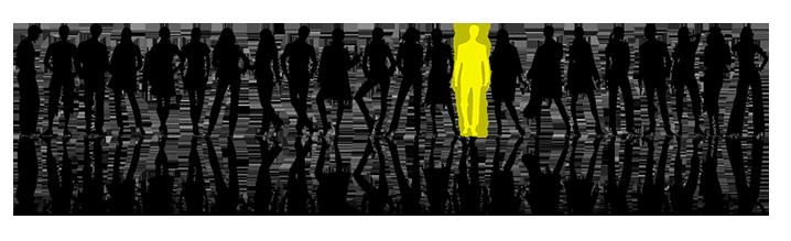 personen op rij